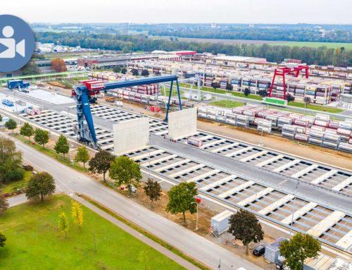 Neues Containerterminal nimmt Gestalt an